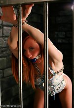 Beauty Sophia Smith cuffed chained and gagged in Victori..
