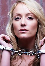 Hot Babe Posing in Handcuffs